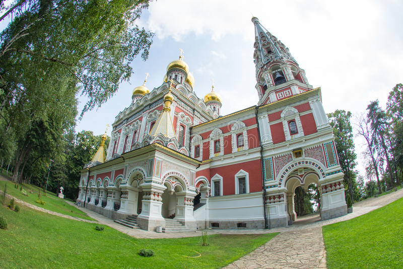 Temple of Christmas in the Shipka Monastery stock photos