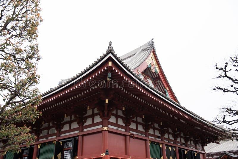 Temple coloré par rouge images stock