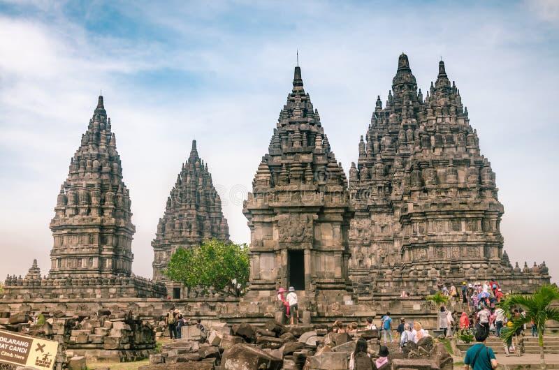 Temple Complex di Prambanan, o Rara Jonggrang, a Yogyakarta, Indonesia, il 26 dicembre 2019 fotografia stock