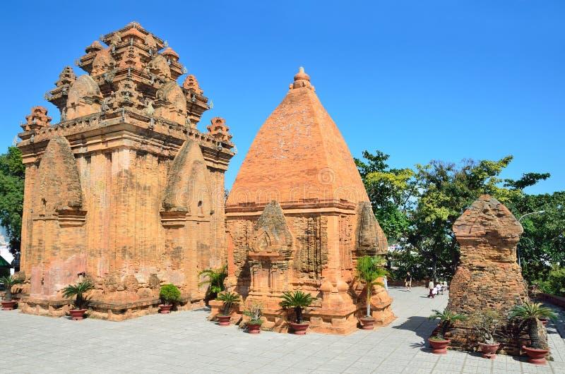 The temple complex Po Nagar, Ponagar Cham tower. Nha Trang. Vietnam stock images