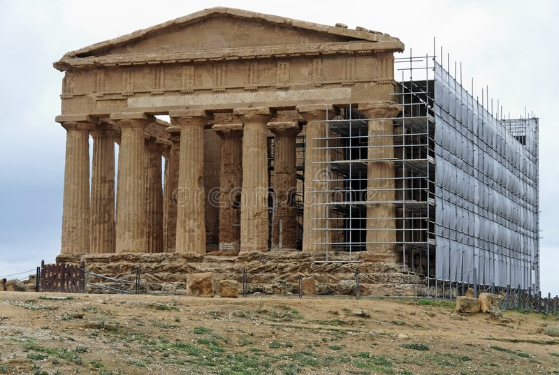 Download Temple Of Concord Agrigento Stock Photo - Image: 1491702