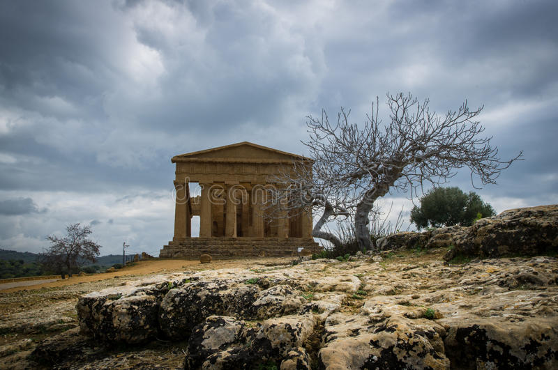 Temple of Concord, Agrigento royalty free stock photography