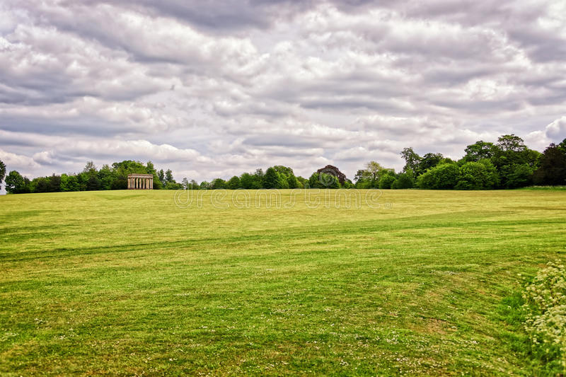 Temple of Concord in the Park of Audley End House stock photos