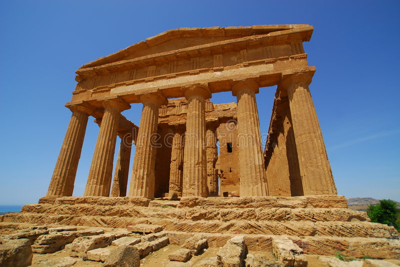 Temple of Concorde royalty free stock image