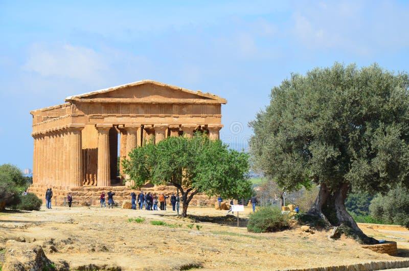 Temple of Concordia, Agrigento royalty free stock photo