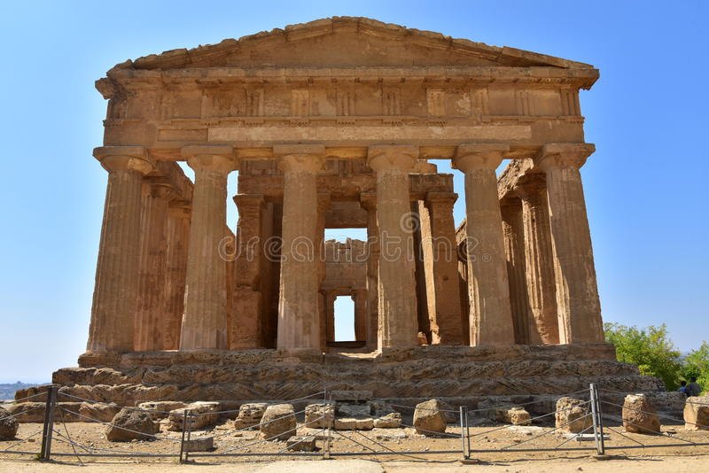 Temple of Concordia - Agrigento - Sicily - Italy royalty free stock images