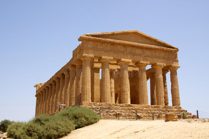 Temple of Concordia Agrigento stock images
