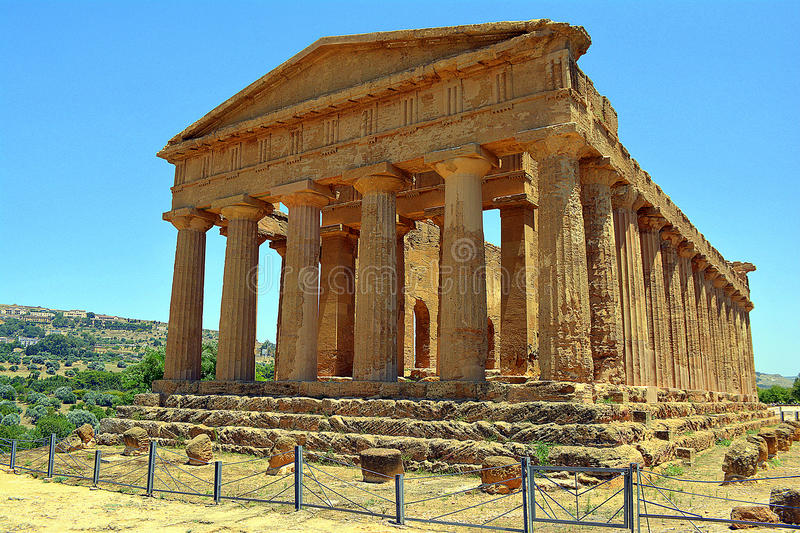 Temple of Concordia Valley of Temples Sicily royalty free stock photo
