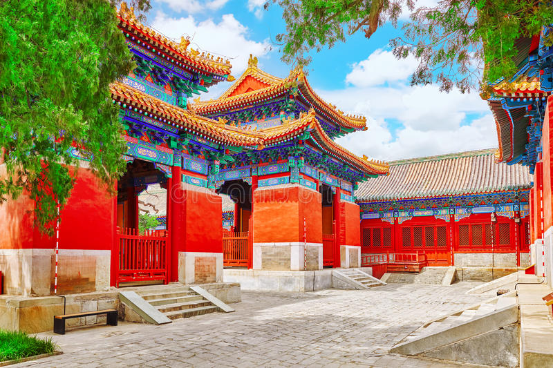 Temple of Confucius at Beijing is the second largest Confucian T. Emple in China. Beijing stock image