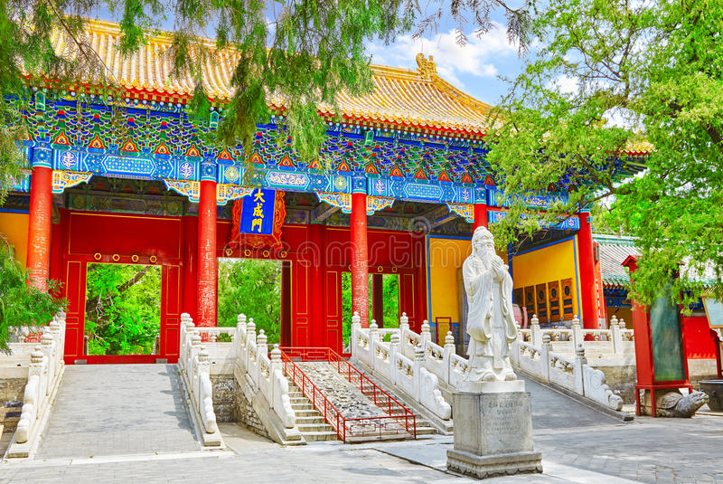 Temple of Confucius at Beijing is the second largest Confucian T. Emple in China. Beijing royalty free stock photography