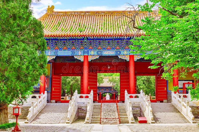 Temple of Confucius a Pechino è il confuciano secondo più esteso T immagine stock