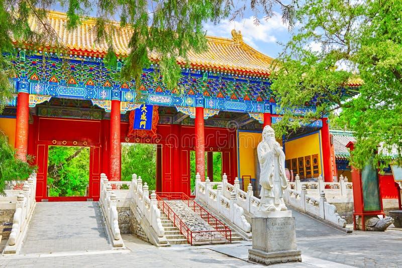 Temple of Confucius a Pechino è il confuciano secondo più esteso T fotografia stock libera da diritti