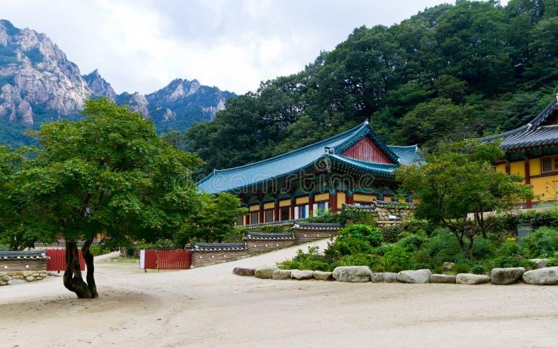 Temple coréen image libre de droits