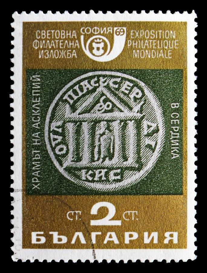 Temple d'Aesculapius, Sofia Through le serie d'âges, vers 1969 images libres de droits