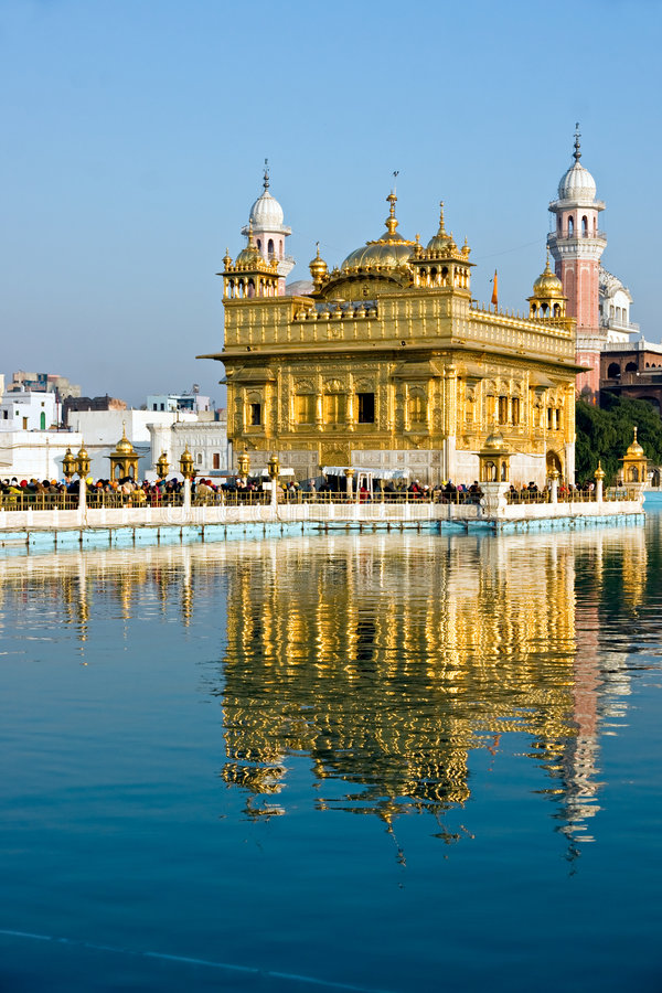 Temple d'or, Amritsar. image libre de droits
