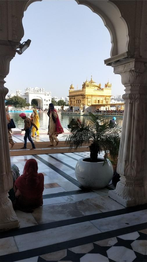 Temple d'or Amritsar, Pendjab de Gurudwara Darbar Sahib photos stock
