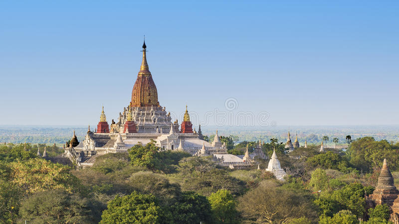 Temple d'Ananda, Bagan photo stock