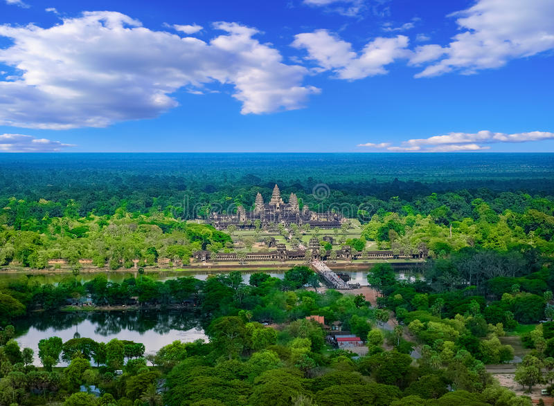 Temple d'Angkor Vat, Cambodge photo stock