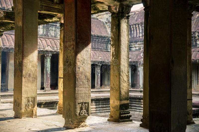 Temple d'Angkor Vat, Cambodge images stock