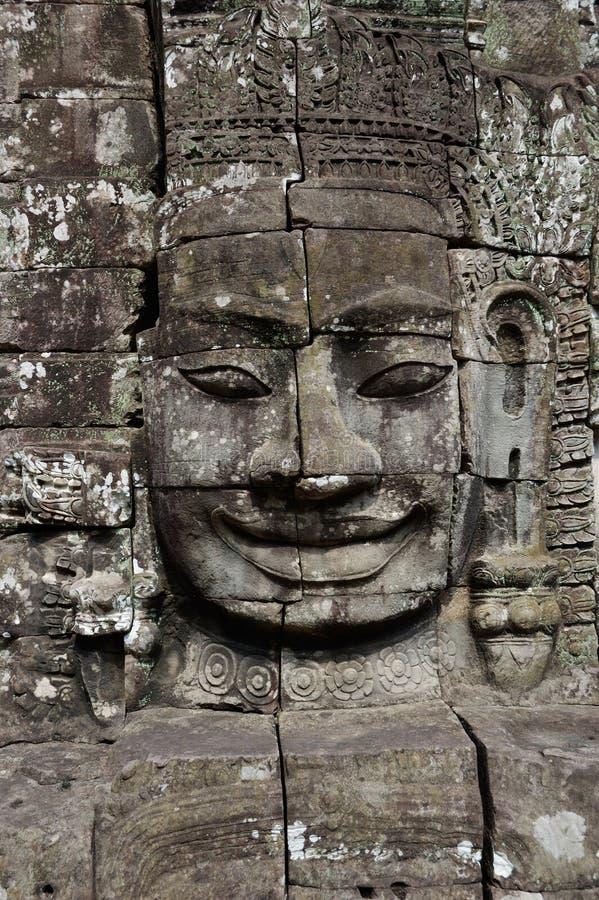 Temple d'Angkor Wat - de Bayon photo libre de droits