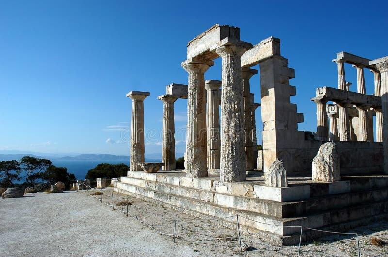 Temple d'Aphaea (Britomartis) photos stock