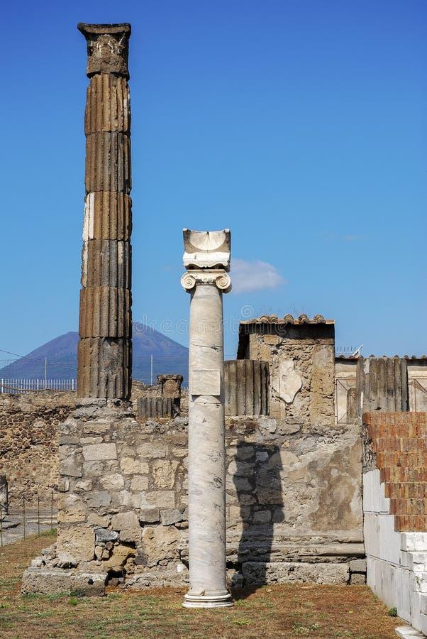 Temple d'Apollo à Pompeii images stock