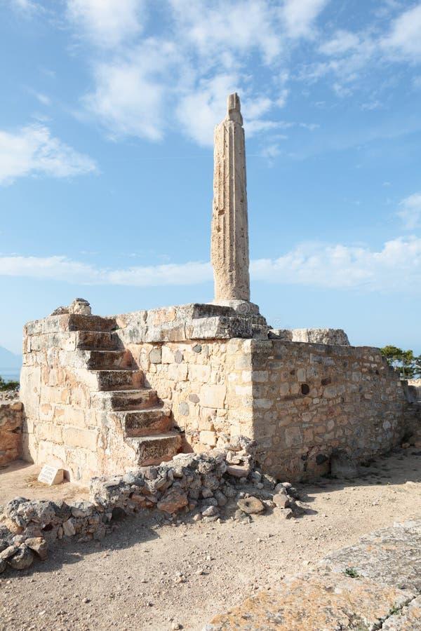 Temple d'Apollo dans Aegina images libres de droits