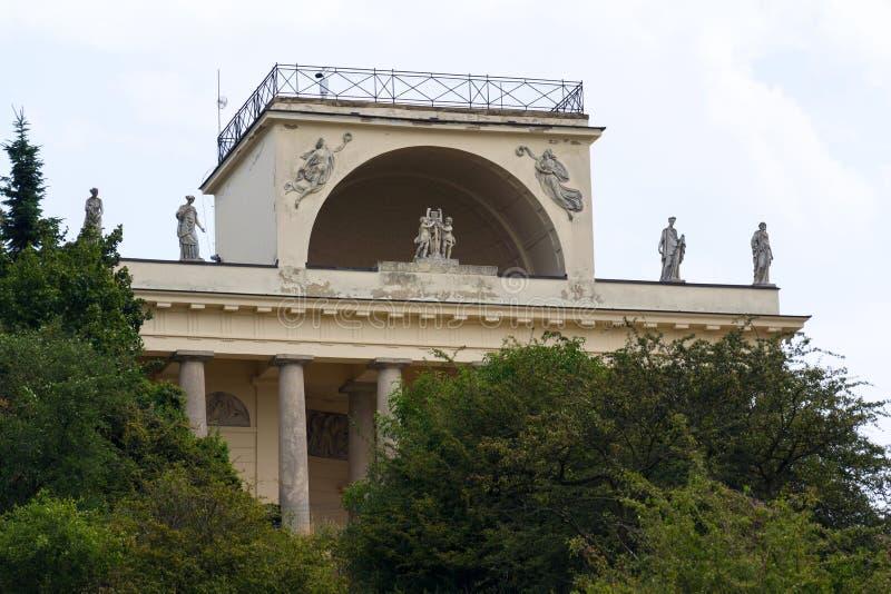 Temple d'Apollo dans le paysage culturel de Lednice-Valtice, Moravie, République Tchèque image stock