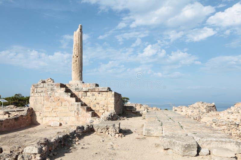 Temple d'Apollo sur Aegina photo stock