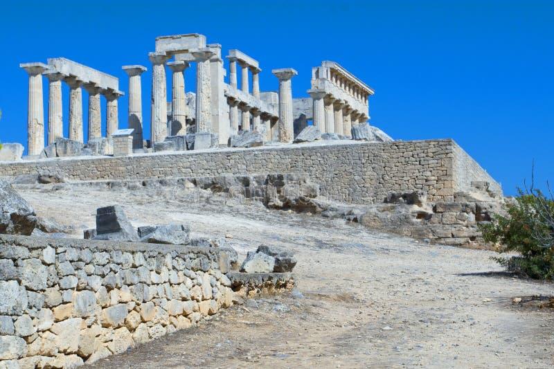 Temple d'Apolon sur l'île d'Aegina en Grèce image libre de droits