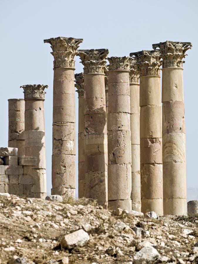 Temple D Artemis, Jerash Images libres de droits