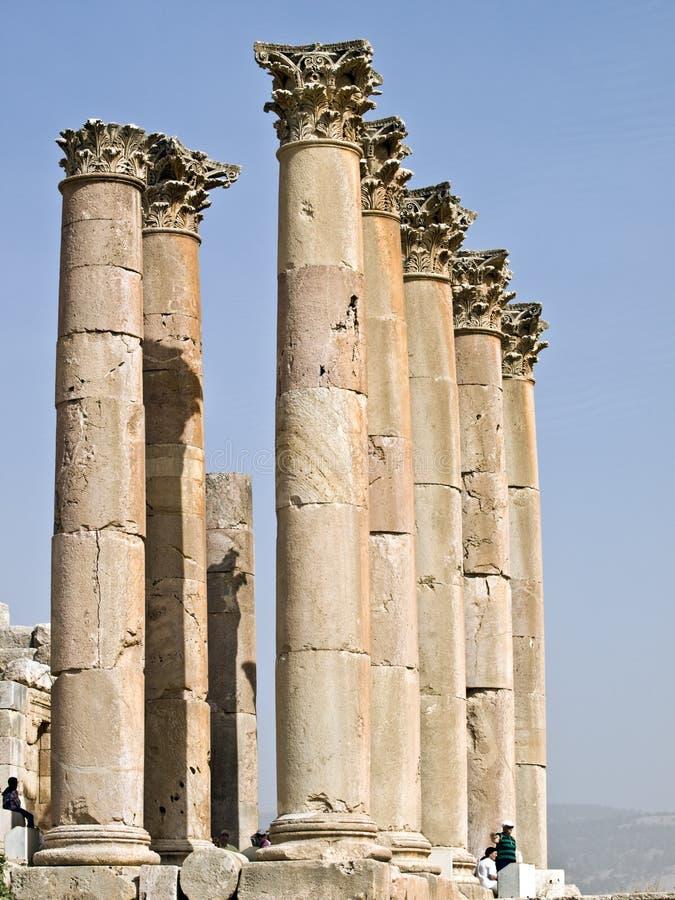 Temple D Artemis, Jerash Photographie stock