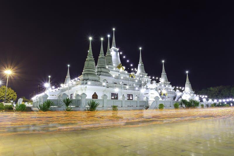 Temple d'Asokaram, province de Samutprakarn, Thaïlande image stock