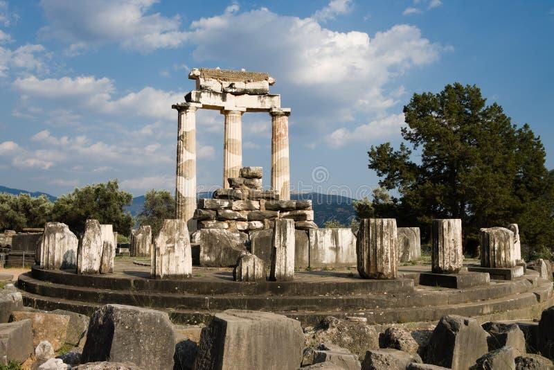 Temple d'Athéna à Delphes images libres de droits