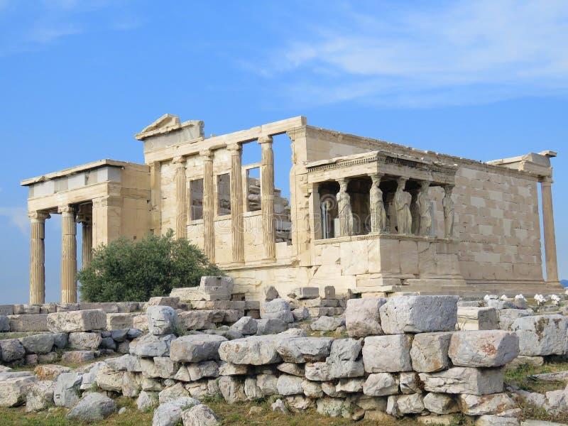 Temple d'Athéna à l'Acropole, Athènes, Grèce photo libre de droits