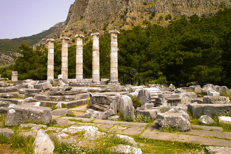 Temple d'Athéna images libres de droits