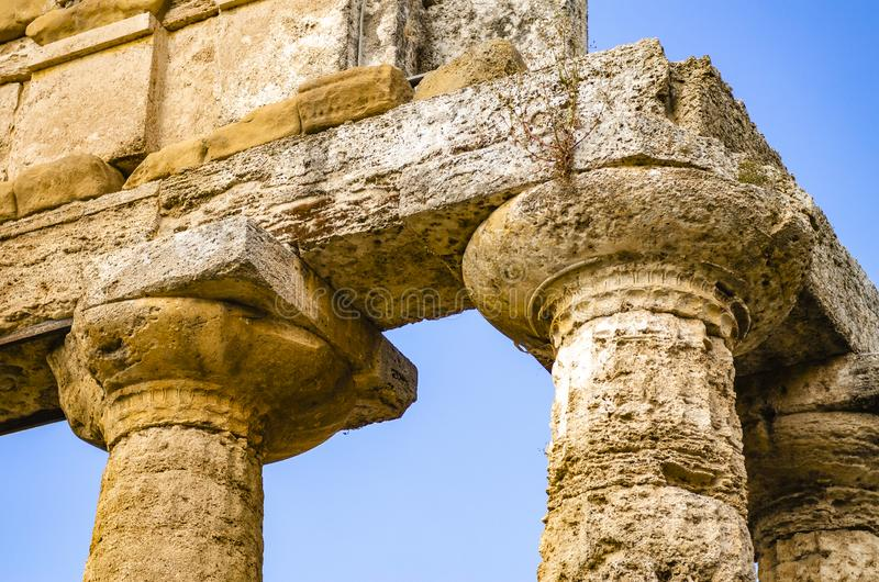 Temple d'Athéna chez Paestum en Italie photos libres de droits