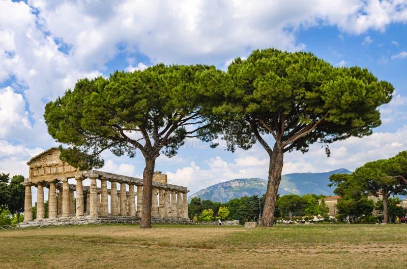 Temple d'Athéna chez Paestum images stock