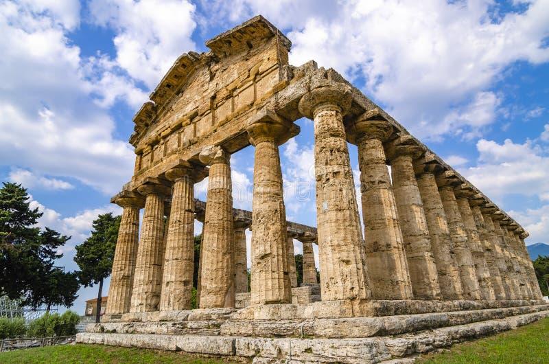 Temple d'Athéna chez Paestum photos libres de droits
