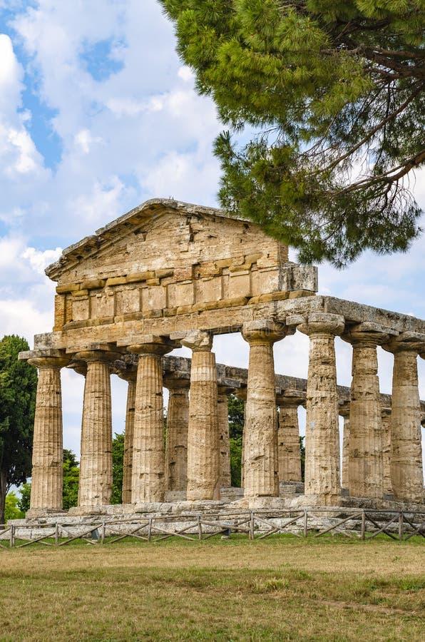 Temple d'Athéna chez Paestum image stock