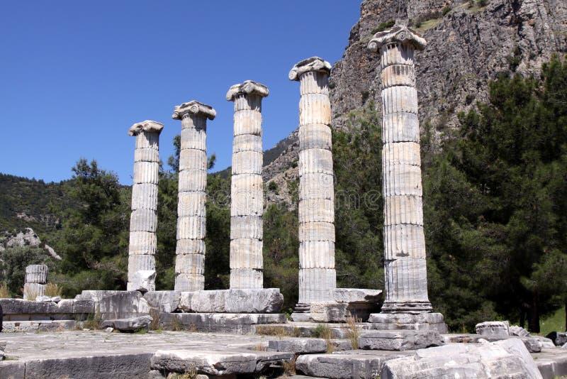 Temple d'Athéna chez Priene, Turquie photos libres de droits