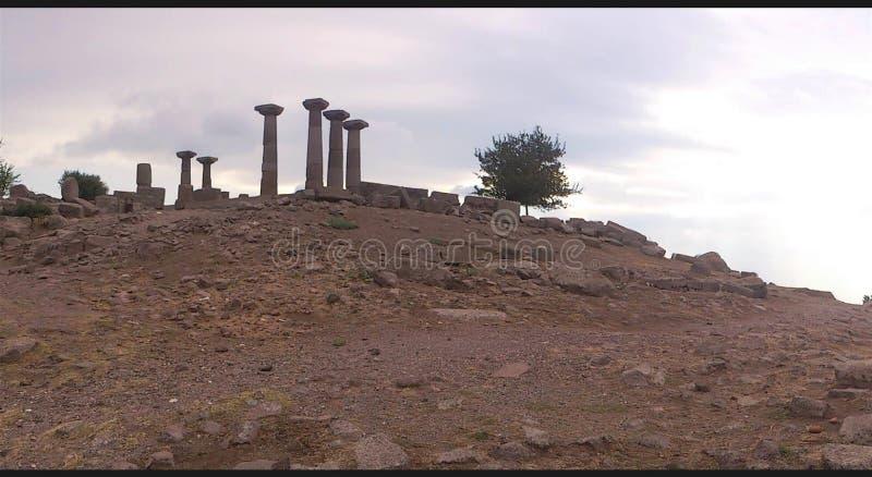 Temple d'Athéna dans Assos image stock