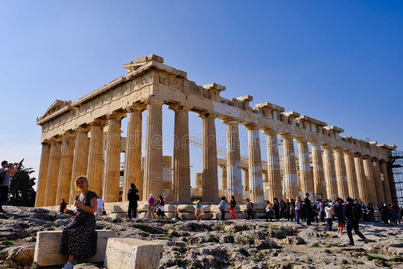 Temple d'Athéna, le parthenon, Athènes, Grèce photographie stock