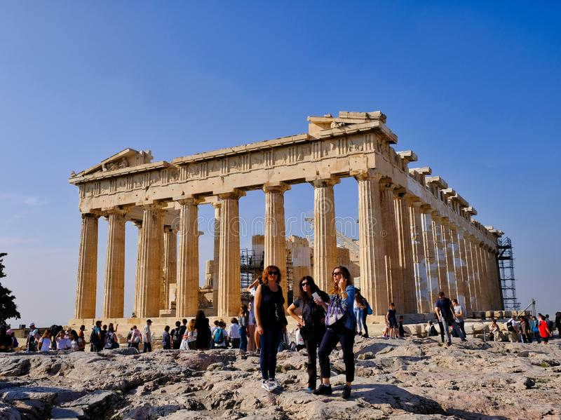 Temple d'Athéna, le parthenon, Athènes, Grèce photos libres de droits
