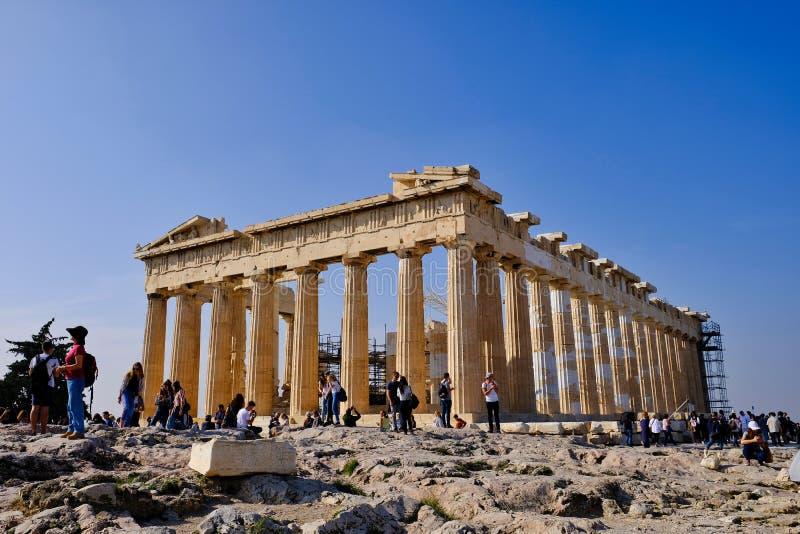 Temple d'Athéna, le parthenon, Athènes, Grèce photos stock