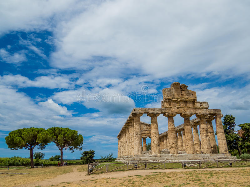 Temple d'Athéna, Paestum photo stock