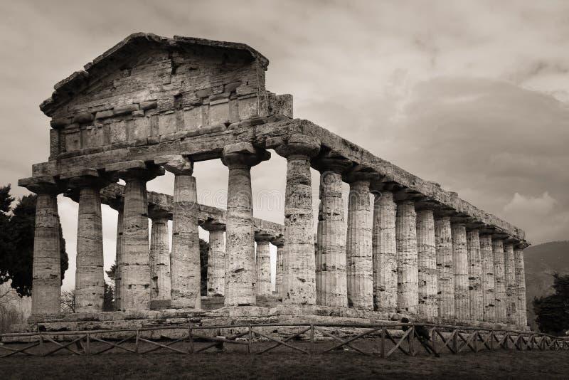 Temple d'Athéna Paestum salerno Campanie l'Italie image stock