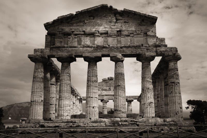 Temple d'Athéna Paestum salerno Campanie l'Italie photos libres de droits