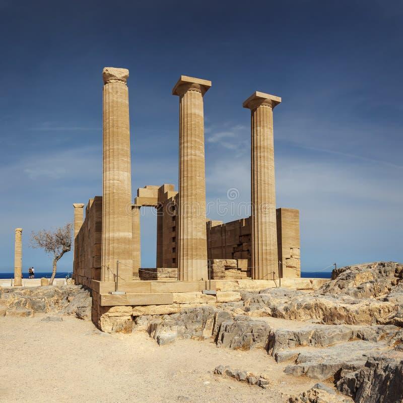 Temple d'Athena Lindos Rhodes photo libre de droits