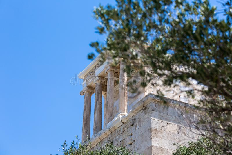 Temple d'Athena Nike, Acropole d'Athènes, Athènes, Grèce, euro image stock